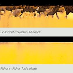 Pulver-in-Pulver Korrosionsschutz Kanten