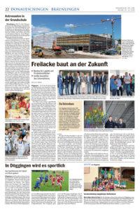 Artikel FreiLacke baut an der Zukunft | 19.07.2018