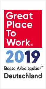Logo Great Place to Work 2019 Beste Arbeitgeber Deutschland