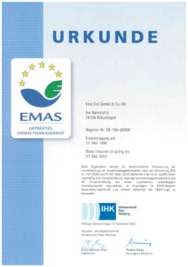 EMAS zertifiziertes Umweltmanagement bei FreiLacke
